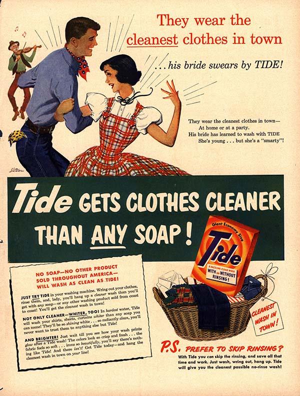 Tide detergent ad, circa 1940s